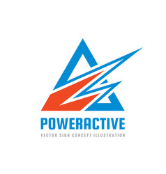 power active - concept business logo template vector image