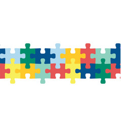puzzle pieces seamless border repeating vector image