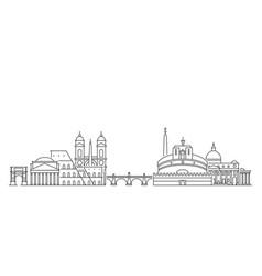 rome skyline italy vector image