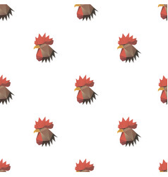 rooster head triangle seamless pattern backgrounds vector image