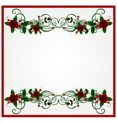rose floral frame background vector image
