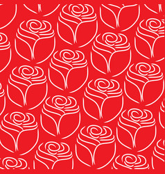 rose line pattern on white background vector image