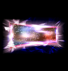 screen led brilliant beam big board vector image