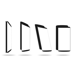 Set black smartphones different angle views vector image