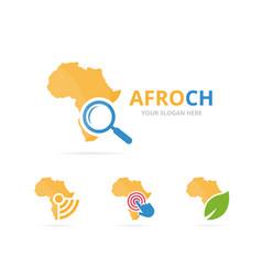 Set of africa logo combination safari vector