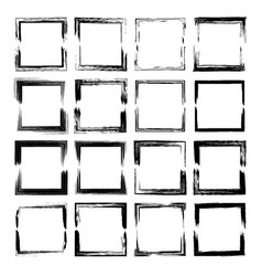 set of rectangle frames vector image