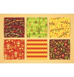 Set of seamless patterns with traditional vector image