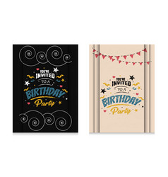 sets invitation birthday party vector image