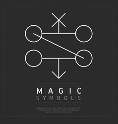Simple design magic symbols vector