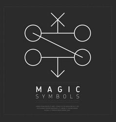Simple design of magic symbols vector