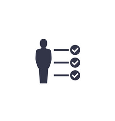 Skills job requirements icon vector