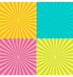 Sunburst set with wave ray of light Template vector