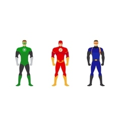 Superhero costumes set vector image