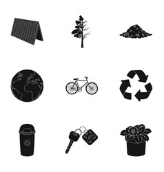 the ecology of the earth the problems of ecology vector image