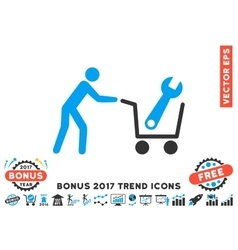 Tools Shopping Flat Icon With 2017 Bonus Trend vector
