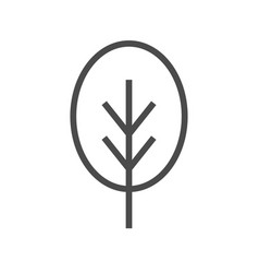 tree flat icon single high quality outline symbol vector image