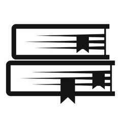 Two books icon simple style vector image