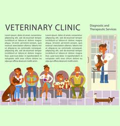 veterinary clinic interior vector image