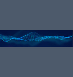 wave pattern 3d glowing abstract digital vector image