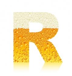 alphabet beer r vector image