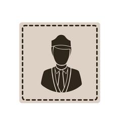 emblem guard person icon vector image