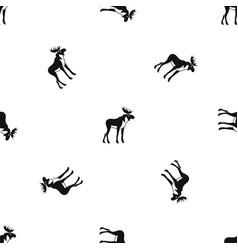 moose pattern seamless black vector image