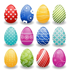 set of bright eggs vector image vector image