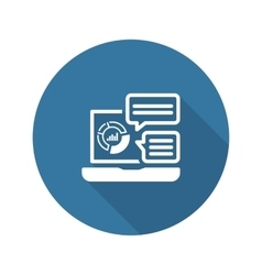 Store Analytics Icon Flat Design vector image vector image