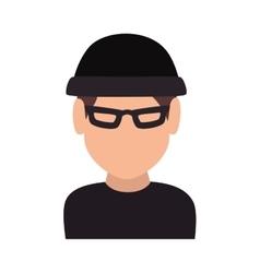thief robber criminal man vector image vector image