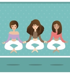 woman do yoga flying levitate in lotus position vector image vector image
