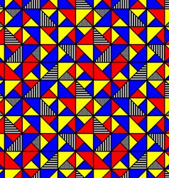 bright colored pattern with squares and triangles vector image vector image