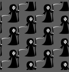 death halloween costume pattern vector image vector image