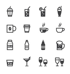 Drink icons and Beverages icons vector image vector image
