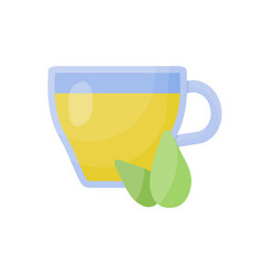 green tea cup flat icon vector image vector image