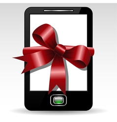 Mobile gift vector image vector image