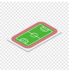 soccer field isometric icon vector image