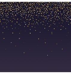 Brilliant golden and sparkling dust particles vector image vector image