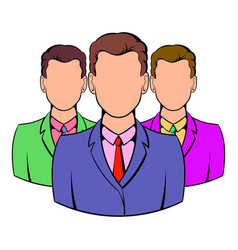 business team icon cartoon vector image vector image