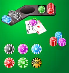 casino design chips vector image vector image