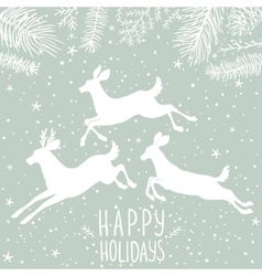 deer white holiday vector image vector image
