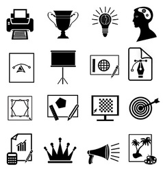 Graphic design icons set vector image