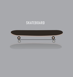 skateboard reflect on floor and text vector image