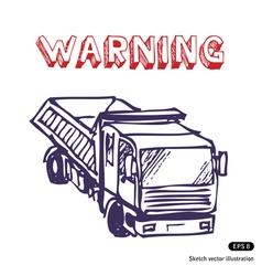 Truck is working vector image vector image