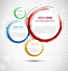 Abstract Curly Banner vector image vector image