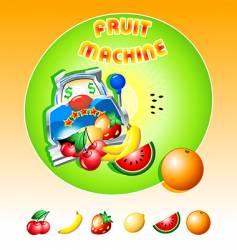 fruit machine slot vector image