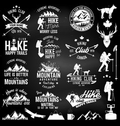 hiking club badge vector image