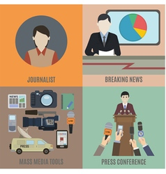 Journalist vector image vector image