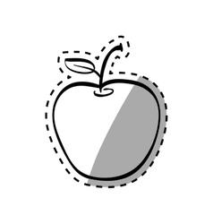 Juicy apple fruit vector image vector image
