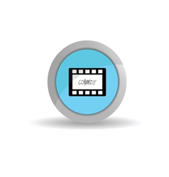 sticker film tape comedy vector image vector image