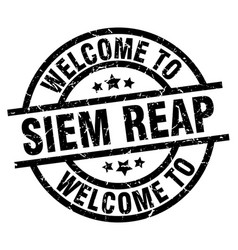 welcome to siem reap black stamp vector image